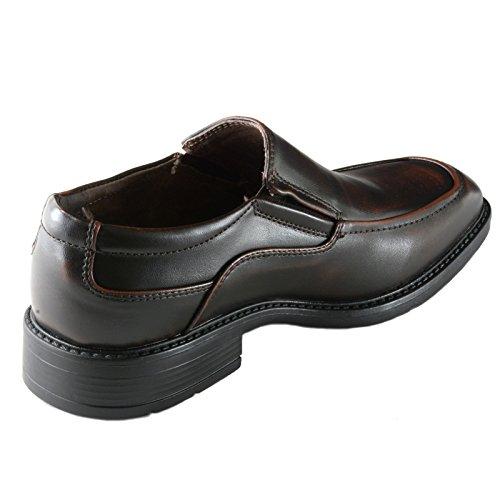 alpine swiss Brig Mens Classic Moc Toe Dress Shoes Brown qBhxmQF