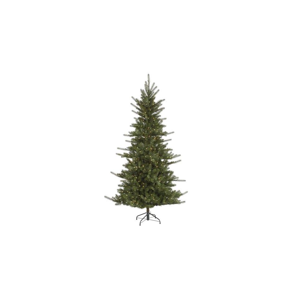 7.5 Slim Colorado Spruce Artificial Christmas Tree   Warm White LED Lights