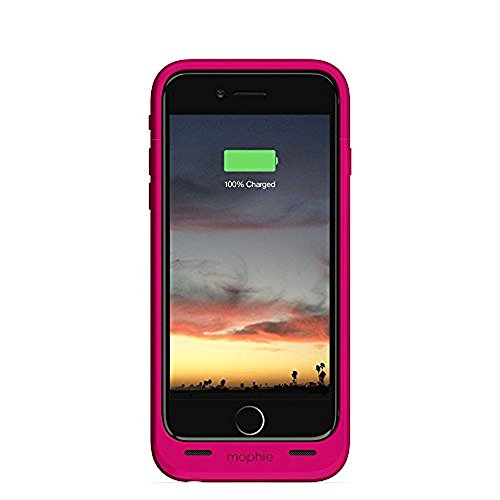mophie Juice Pack Air - Slim Mobile Battery Protective Case for iPhone 6 / 6S - Pink