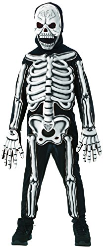 Rubies Glow in The Dark Skeleton Child Costume, Small, One Color -