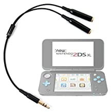 Adaptateur double pour écouteurs stéréo Jack 3.5 mm pour console de jeux Nintendo 2DS XL - DURAGADGET