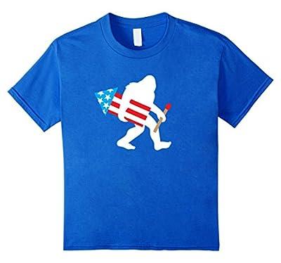 Bigfoot Fireworks Shirt, Funny Cute Sasquatch 4th of July