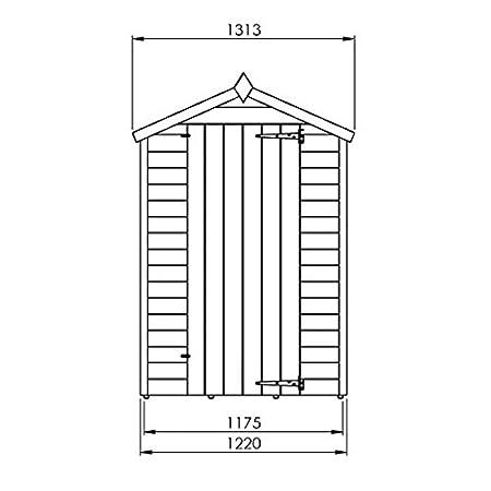 Nova 4 x 6 superposición Apex Shed - barato cobertizos - Cobertizos: Amazon.es: Jardín