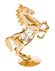 24k Gold Plated Figurine with Swarovski Crystals - Nature