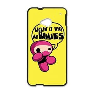 HTC One M7 Cell Phone Case Black_Pink Ninja Humor Tilpc
