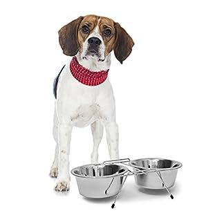 Ciotola per cani in acciaio con supporto Relaxdays