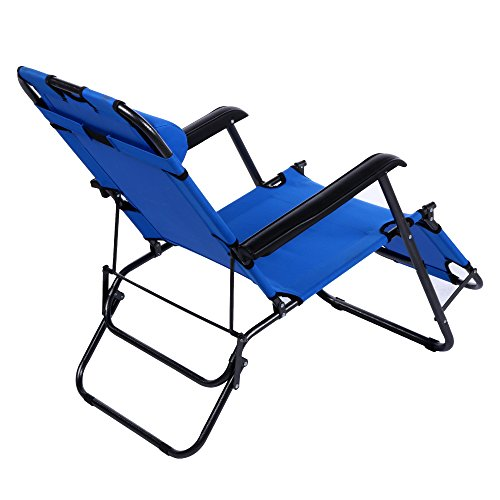Ancheer Chaise Lounge Folding Lounge Chair Beach Chaise