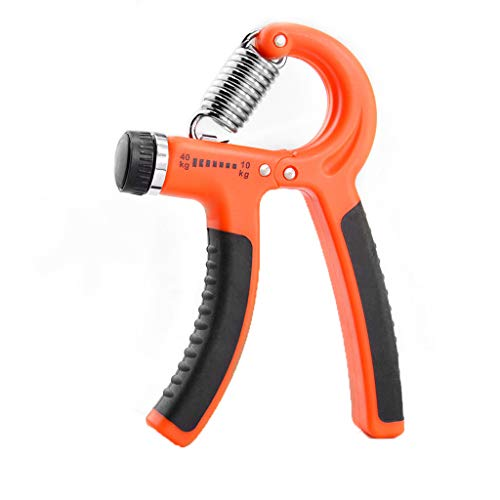 - YunZyun Hand Grip Strengthener, Grip Strength Trainer, Hand Exerciser Adjustable Hand Gripper 10-40KG Forearm Exerciser Heavy Grip Strength Training Great for Athletes Pianists Kids (Orange)