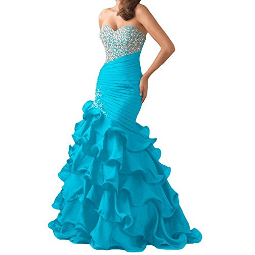 Prom Mermaid Lace 2017 Sweetheart Women's Beaded Up Dresses Aqua Fanciest OwTZXYq8T