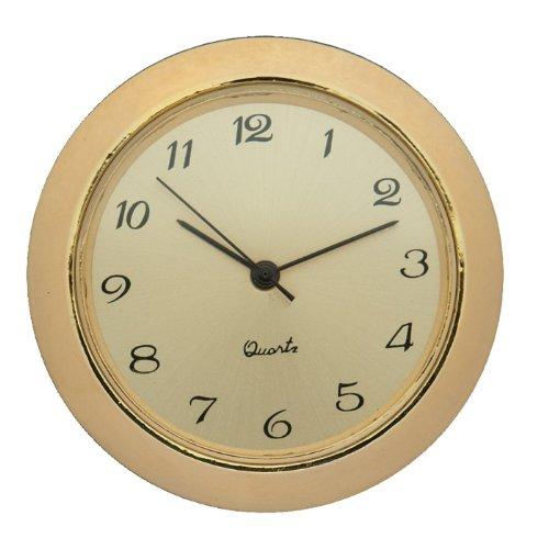 "1-7/16"" Gold Arabic Clock Insert with Gold Bezel"