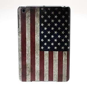AES - C0032 Retro USA Flag Pattern Plastic Case for iPad mini / mini 2 , Black