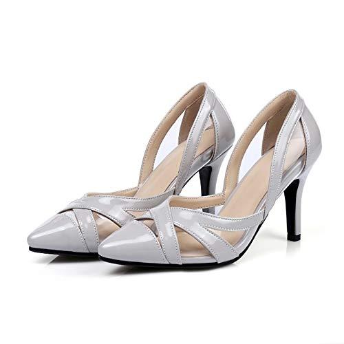 Heels Basic Stiletto QOIQNLSN Shoes Light Blue Suede Gray Heel Grey Women'S Summer Pump Purple IYIAq