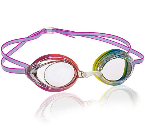 Uniq Fliker Women's Mirrored Swim Goggle, Race Goggles in and Styles – Rainbow