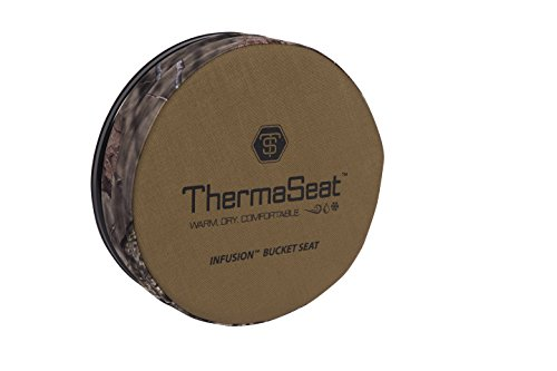 Northeast Products Therm-A-SEAT Infusion Bucket Lid Spin Seat, Coyote/Mossy Oak Infinity (Seats Ice Fishing)