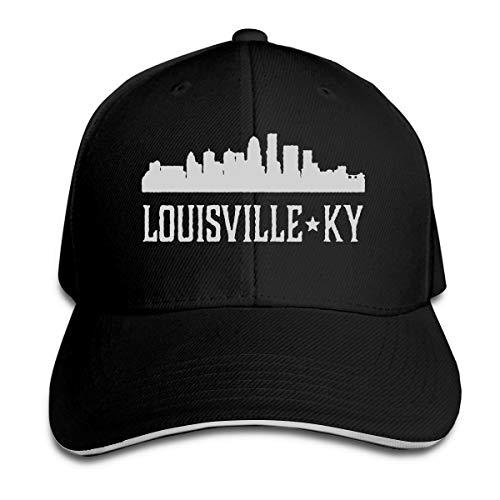 Unisex Louisville Kentucky Skyline KY Cities Baseball Caps Adjustable Sandwich Bill Peaked Caps Outdoors Sports Hat Black]()