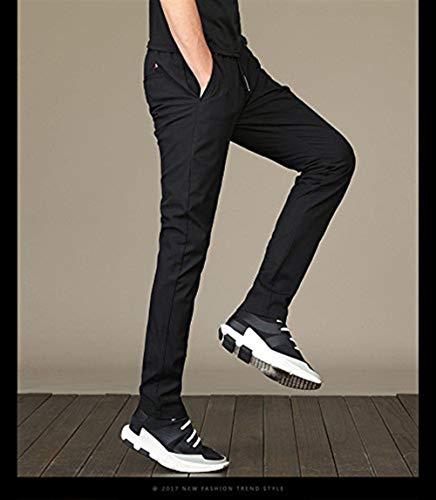 Uomo Nero Pantaloni Semplice Stile Per Allenamento Jogging Da Hulday 8qwYd8E