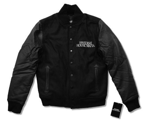 Swedish House Mafia Embroidered Wool & Faux Leather Varsity Jacket (L)