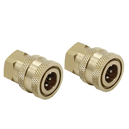 """Tool Daily Pressure Washer Accessories, Brass Quick Coupler fittings, Female NPT Socket, 5000 PSI 1/4"""", 2-pack"""
