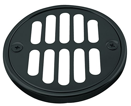 Westbrass Shower Strainer Set with Screws, Grill and Crown, Matte Black, D312-62 by Westbrass