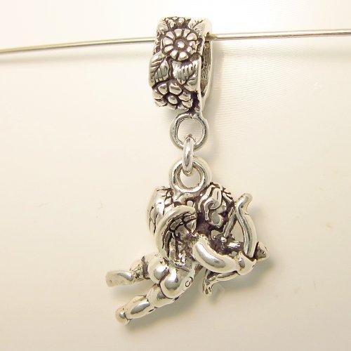 Cupid with Bow & Arrow Valentine Dangle Charm
