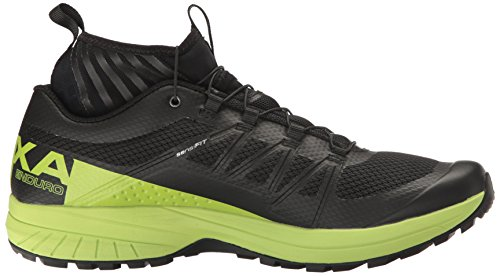 Salomon Mens Xa Enduro Trail Runner Nero / Verde Lime / Nero