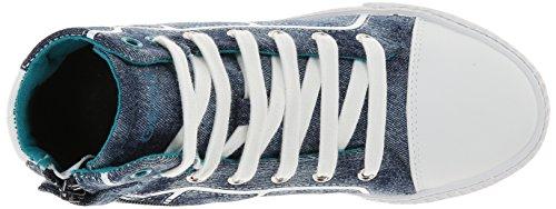 Geox J SMART BOY D - zapatillas deportivas altas de lona niño azul - Blau (DK JEANSC4322)