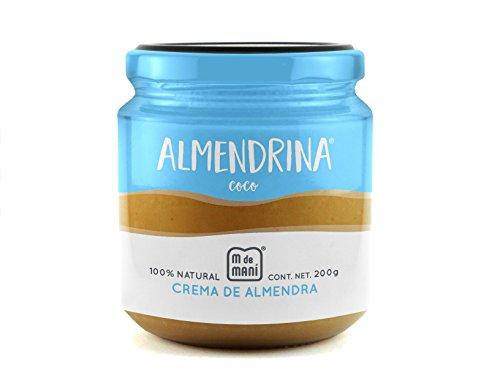 M de Maní Almendrina Coco. Crema de almendras 100% natural endulzada con miel de abeja. Con aceite de coco orgánico y coco...