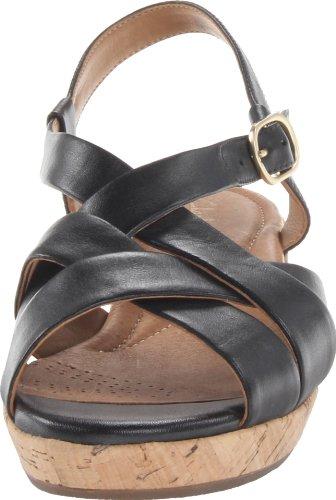 Clarks Womens Orlena Chutney Wedge Sandale Noir
