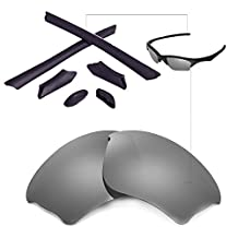 Walleva Replacement Lenses Or Lenses/Rubber Kit for Oakley Half Jacket XLJ Sunglasses - 47 Options