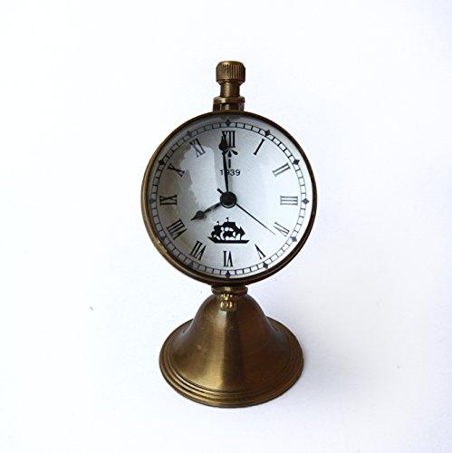 Globe Desk Clock - Collectibles Buy Antique Globe Clock London 1939 Clock Marine Mini Brass Watch