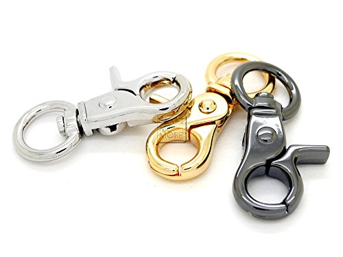 rigger Clip Hooks Push Gate Hooks Quality Finish Metal Lobster Clasp Inside O Ring 1/2 Inch 4PCS (Gold) (Leash Clip Strip)