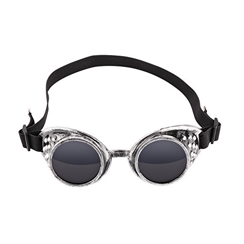 Retro Punk Gothic Steamed Eye Protective Glasses Riding Windproof Dustproof Goggles Helmet Decorative Cosplay Sunglasses - Motorcycle Helmet Decorative- Stage Performances and Parties (Ancient - Sunglasses Ancient