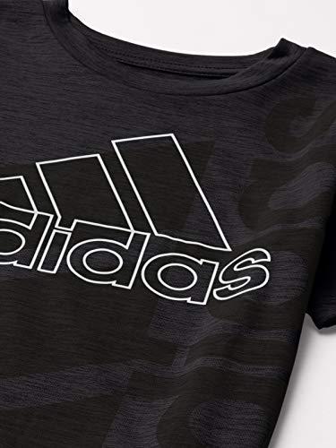 adidas Boys' Short Sleeve Aeroready Vertical Badge of Sport Pigment Tee 3