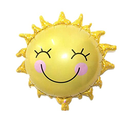 TOYMYTOY 10pcs Sun Flower Foil Balloons Mylar Balloon Lovely Kids Toy for Party Decoration