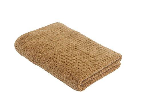 turkishtowelmarket Hiera Home 100% Original Turkish Cotton Checkers Bath Towel, 30' W x 55' L, Mustard Bath 30' Double Towel