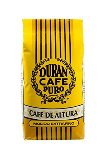 Café Duran Best Panamá Coffee Highest Quality Ground Coffee Duran From Boquete Highland Coffee Traditional Roast Exra Fine Ground (15oz bag)