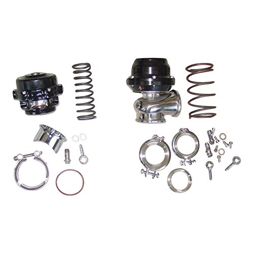 XS-Power 50mm BOV AND 44mm Wastegate Combo Turbo blow off valve and Waste Gate BLACK ssauto740