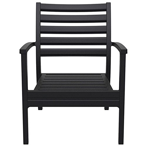 Compamia Artemis Outdoor Dining Arm Chair (Set of 4) - Black