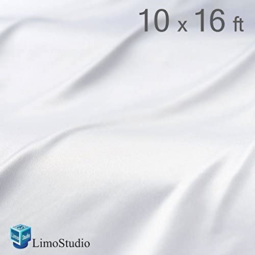 LimoStudio Photo Muslin Photography Backdrop Background 10 X 16 Ft Screen White Muslin Backdrop AGG221