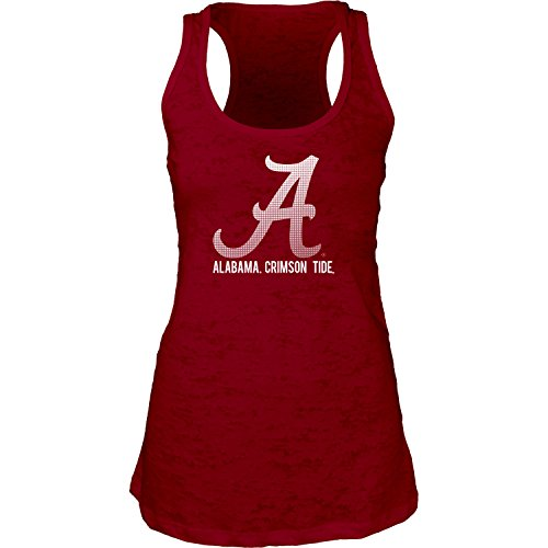 NCAA Alabama Crimson Tide Women's Burnout Tank Top, Cardinal, Small