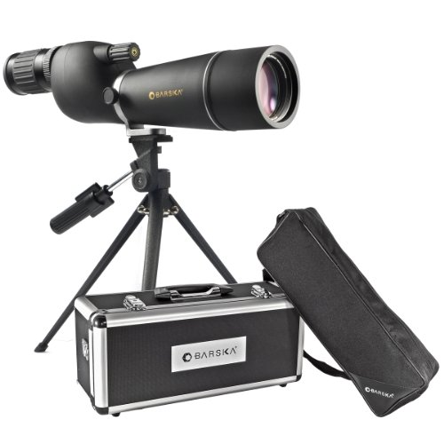 BARSKA Naturescape 15-45x60 Straight Spotting Scope with Tripod And Premium Hard Case
