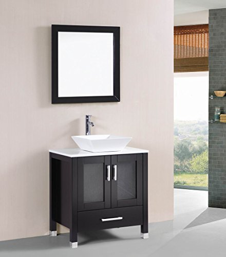 Modern Vanity Espresso Bathroom (Belvedere Designs T9054 Modern Espresso Bathroom Vanity Sink, Espresso, 30