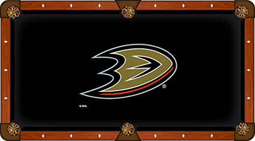 Holland Bar Stool Co. Anaheim Ducks Black Billiard Pool Table Cloth (9')