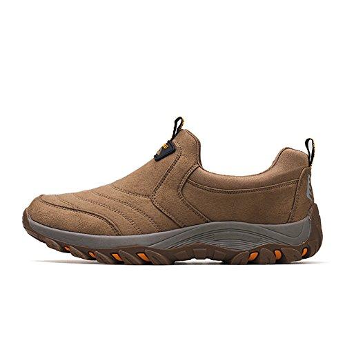 PENGFEI Bottines Chaussures De Sport L'automne Antidérapant Glisser sur Respirant D'âge Moyen Et Âgé Mâle 4 Couleurs (Couleur : Kaki, Taille : EU43/UK8.5/L:270mm) Kaki