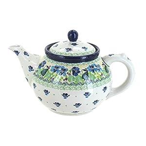 Blue Rose Polish Pottery Sweet Violet Medium Teapot