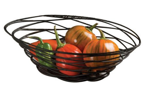 American Metalcraft Basket (American Metalcraft FRUB18 Metal Birdnest Baskets, Oval, Black)