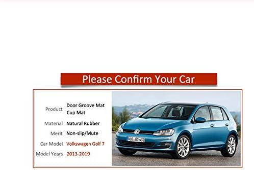 Amazon.es: linfei Posavasos De Goma Antideslizante con Ranura para Puerta para VW Golf 7 Mk7 2013-2019 Accesorios Volkswagen Etiquetas Engomadas del Coche