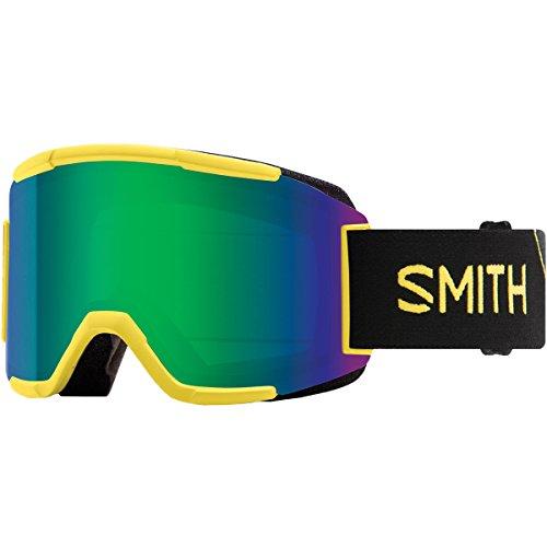 Smith Optics Squad Adult Snow Goggles - Citron Glow/Green Sol-X Mirror/One ()