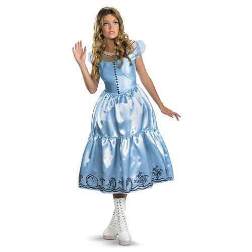 Disguise Unisex Adult Alice Movie Dress, Light Blue/Black, Large (12-14) Costume