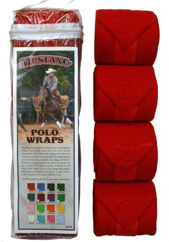 Mustang Polo Wraps Red by Mustang